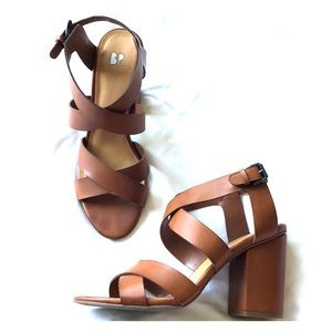 BP High Heel Brown Sandal Worn Once Size 9.5